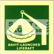 Davit-Launched Liferaft, Marine use.