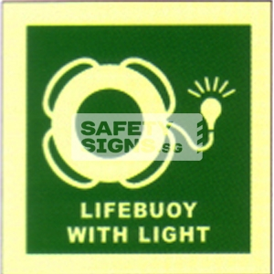 Lifebuoy with light, Marine use.