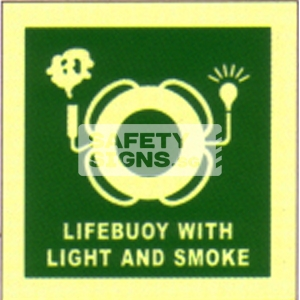 Lifebuoy with light & smoke, Marine use.