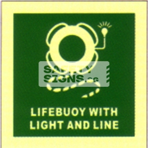 Lifebuoy with light & line, Marine use.