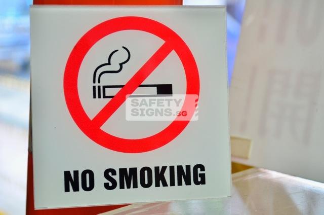No Smking- acrylic