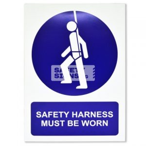 Safety Harness Must be Worn. Aluminum - Suitable for outdoor use.