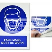 Face Mask Must Be Worn. Vinyl Sticker.