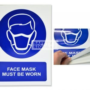 Face Mask Must Be Worn. Vinyl Sticker.