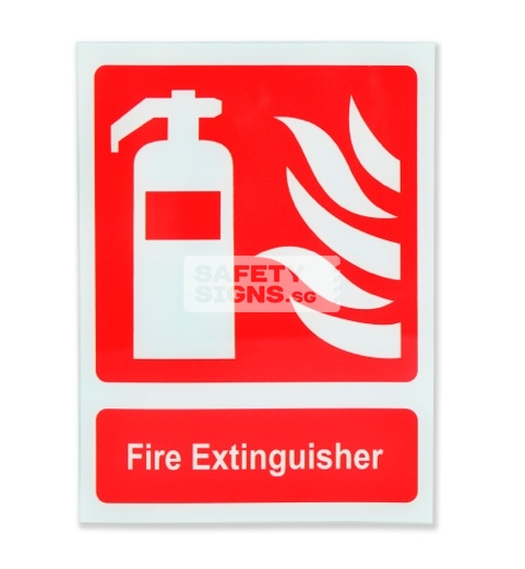 Fire Extinguisher. Acrylic - Suitable for indoor use.