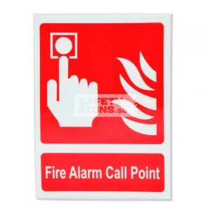 Fire Alarm Call Point. Acrylic - Suitable for indoor use.