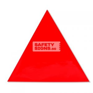 Fire Fighting Access Triangle. Vinyl Sticker.