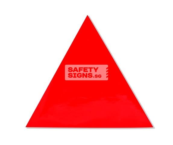 Fire Fighting Access Triangle. Vinyl Sticker.