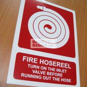 Fire Hose Reel with Instruction. PVC.