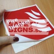 Fire Blanket. Vinyl Sticker.