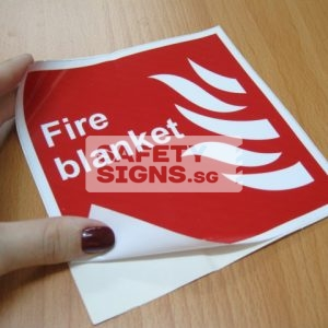 Fire Blanket. Vinyl Sticker.