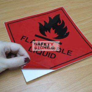 Flammable Liquid. Vinyl Sticker.