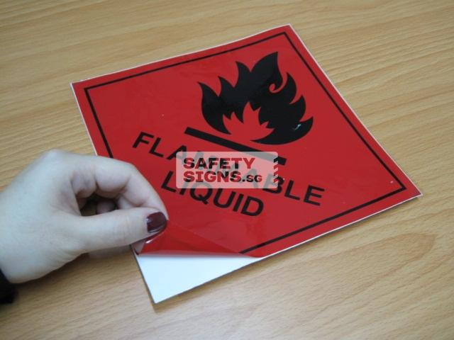 Flammable Liquid. Vinyl Sticker.