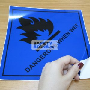 Dangerous When Wet. Vinyl Sticker.