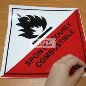 Spontaneously Combustible. Vinyl Sticker.
