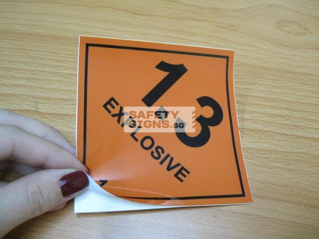Explosive 1.3. Vinyl Sticker.