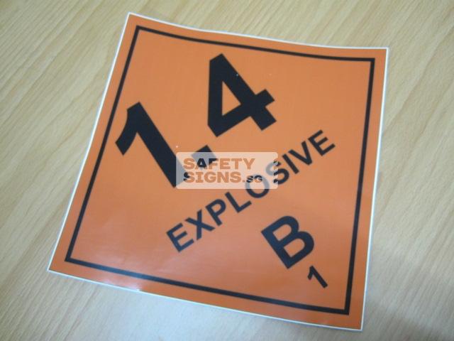 Explosive 1.4B. Vinyl Sticker.