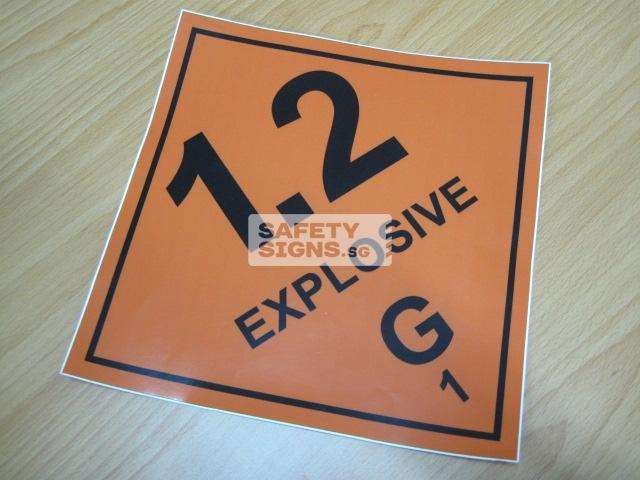 Explosive 1.2G. Vinyl Sticker.
