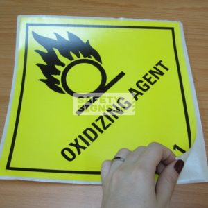 Oxidizing Agent. Paper Sticker.