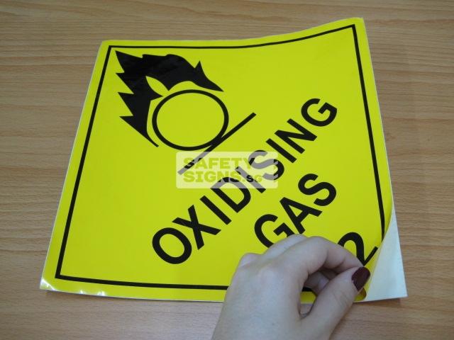 Oxidizing Gas. Vinyl Sticker.
