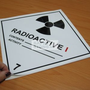 Radioactive I. Vinyl Sticker.