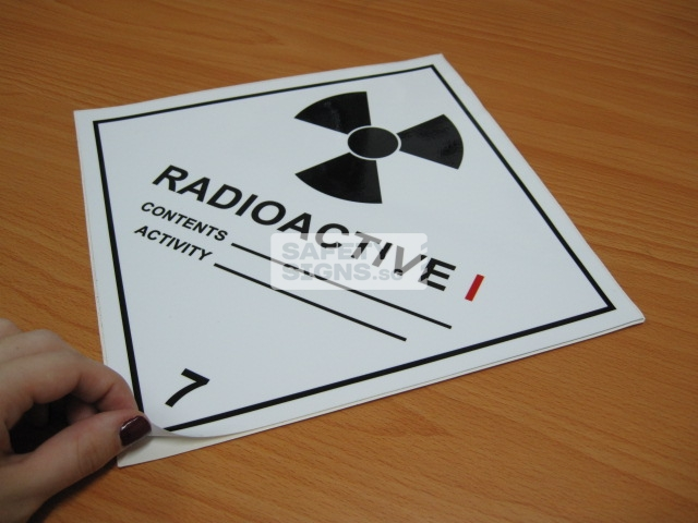 Radioactive I. Vinyl Sticker.