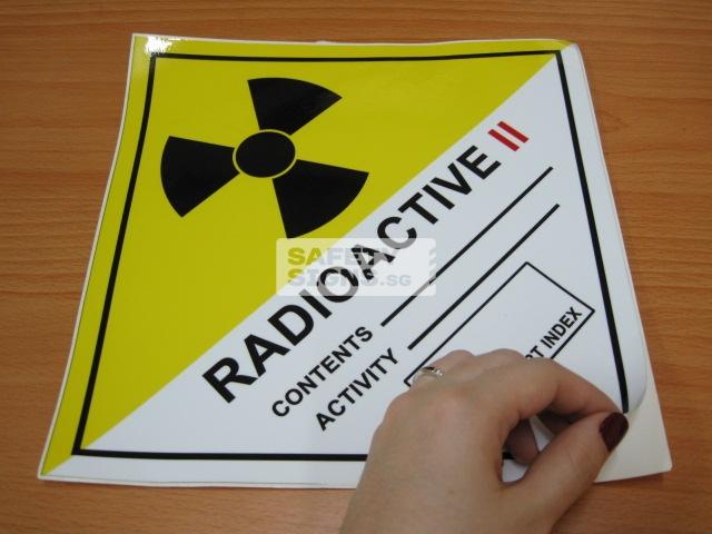 Radioactive II. Vinly Sticker.