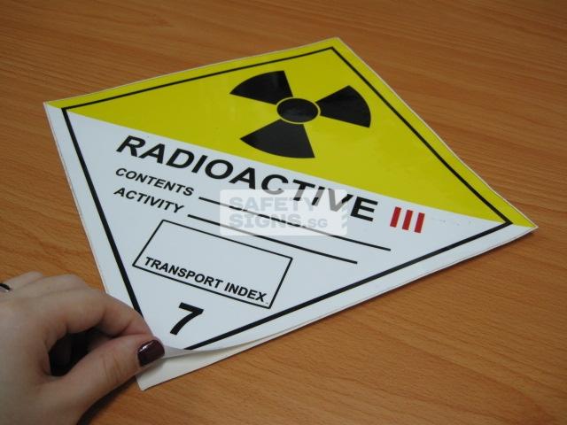 Radioactive III. Vinly Sticker.