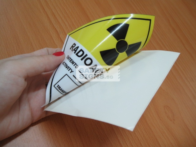 Radioactive III. Reverse Printed Vinyl Sticker.