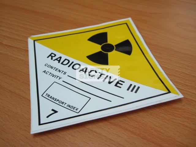 Radioactive III. Vinyl Sticker.