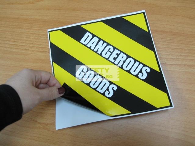 Dangerous Goods. Vinyl Sticker.