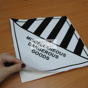 Miscellaneous Dangerous Goods. Vinyl Sticker.