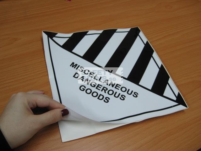 Miscellaneous Dangerous Goods. Vinyl Sticker.