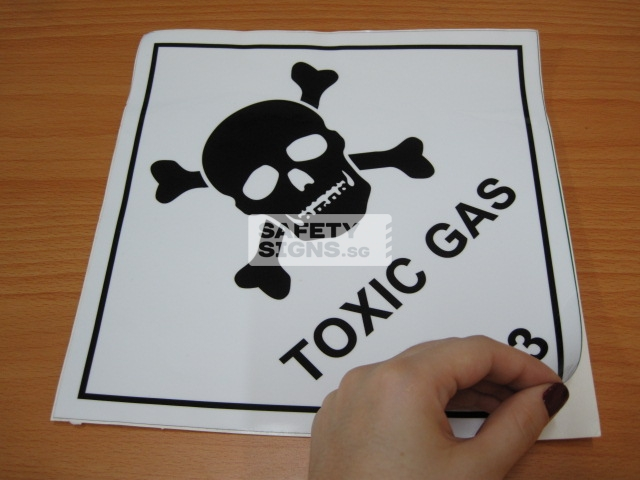 Toxic Gas. Vinyl Sticker.