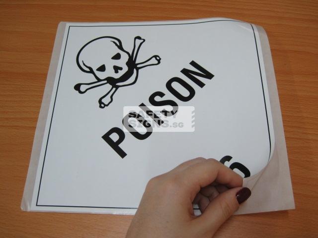 Poison. Paper Sticker.