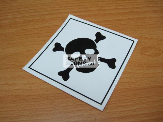 Poison. Vinyl Sticker.