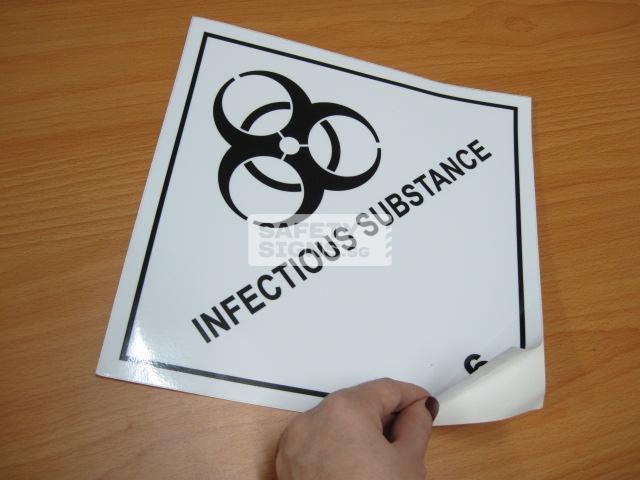 Infectious Substances. Vinyl Sticker.