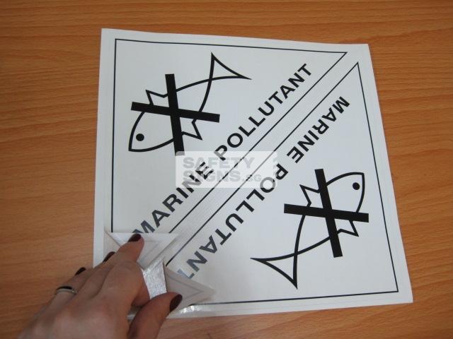 Marine Pollutant. Paper Sticker.