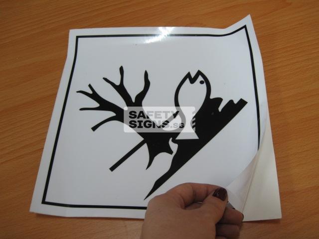 Marine Pollutant. Vinyl Sticker.