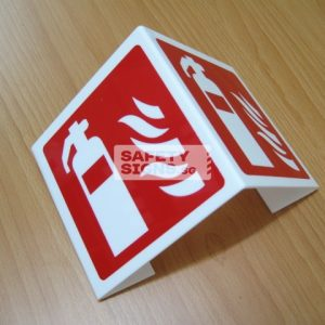 Fire Extinguisher Bent 2 sided. Non - Luminous. Acrylic - Suitable for indoor use.