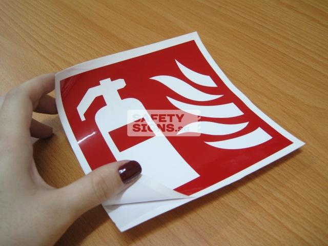 Fire Extinguisher. Vinyl sticker.