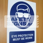 Eye Protection Must Be Worn. PVC.