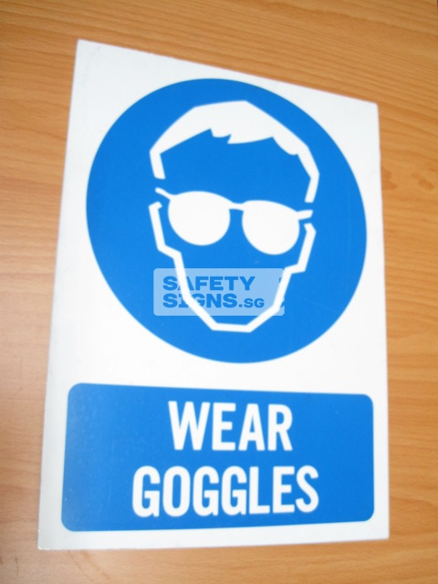 Wear Goggles. Aluminum - Suitable for outdoor use.