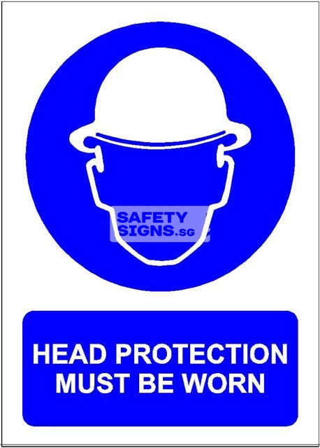 Head Protection Must Be Worn. PVC.