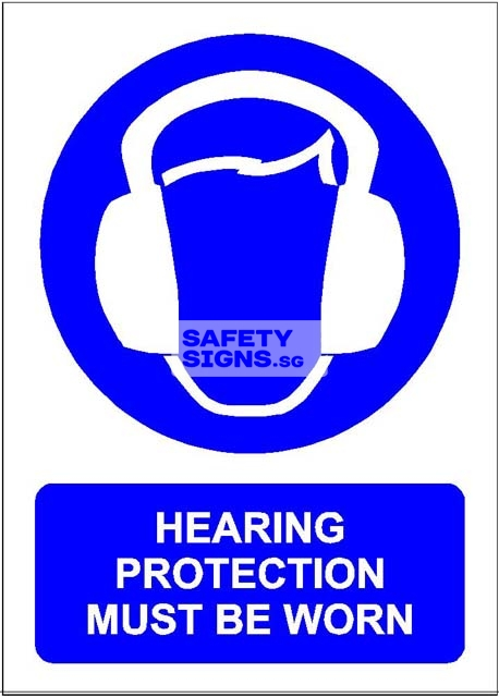 Hearing Protection Must Be Worn. PVC.