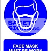 Face Mask Must Be Worn. PVC.