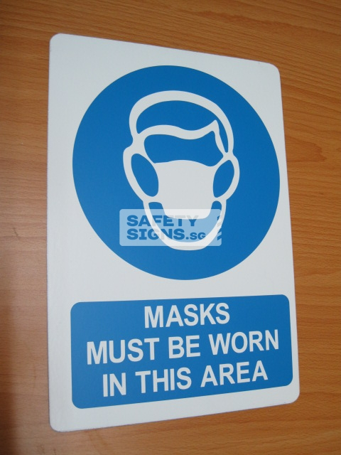 Masks Must Be Worn In This Area. Aluminum - Suitable for outdoor use.