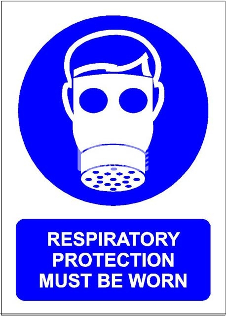 Respiratory Protection Must Be Worn. PVC.