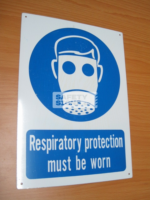 Respiratory Protection Must Be Worn. Aluminum - Suitable for outdoor use.