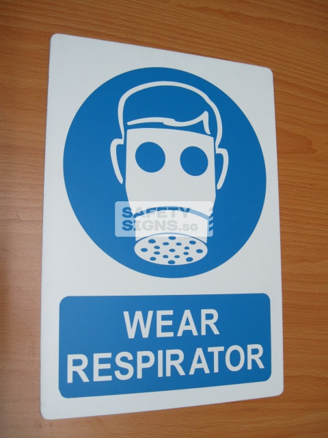Wear Respirator. Aluminum - Suitable for outdoor use.